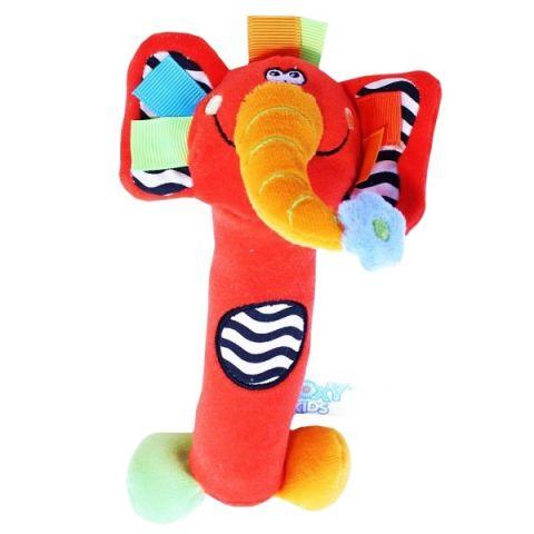 "ROXY-KIDS RBT20014 Игрушка развивающая Слоненок ""Сквикер"". Пищалка внутри. Размер 18 см"