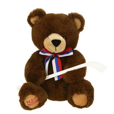 SOFTOY T1914726B Игрушка мягкая Медведь с клюшкой 26 см.