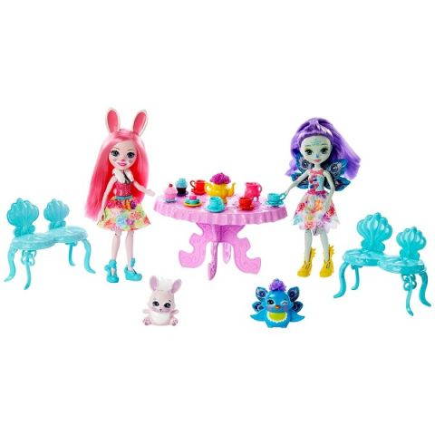 """Mattel Enchantimals GLD41 Игровой набор """"Чаепитие Пэттер Павлины и Бри Кроли"""""""