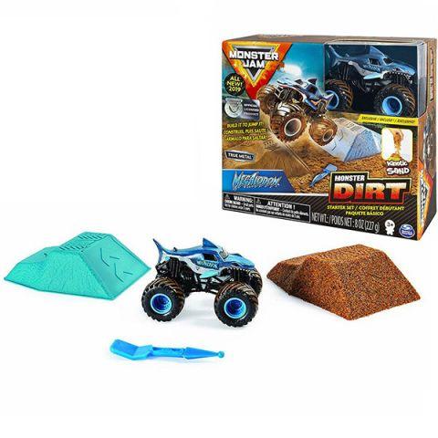 Monster Jam 6045198-MEG Монстр Джем Megladon игровой набор с машинкой и кинетическим песком