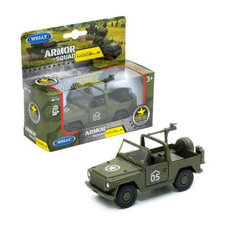 Welly 99199 Велли Военный автомобиль с пулемётом