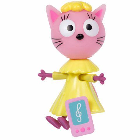 "Три кота T16178 Фигурка ""Лапочка"" с телефончиком, 7,6 см, подвижные ножки и ручки, на блистере"