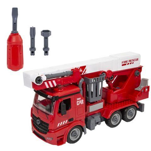 Wincars YK-2218 Пожарная часть Разборная инерционная машина с подъёмником, звук, свет