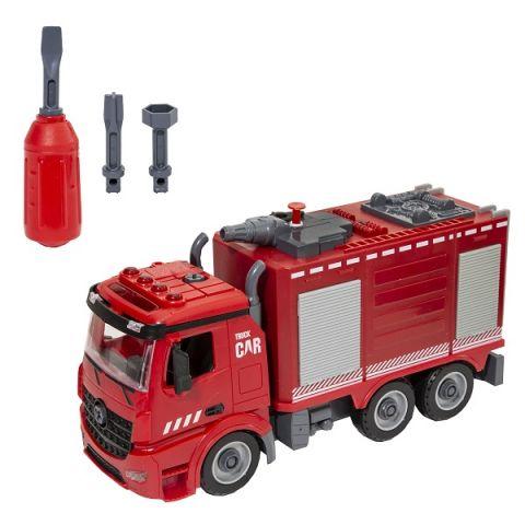 Wincars YK-2220 Пожарная часть Разборная инерционная машина с цистерной и водомётом, звук, свет
