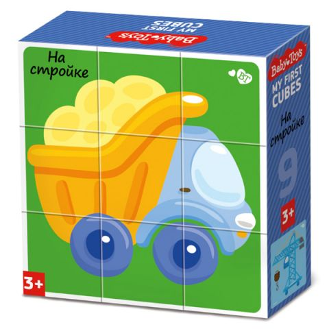 "BABY TOYS TD03533 Кубики ""На стройке"" (без обклейки), 9 шт"