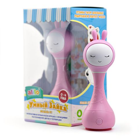 Alilo 60908 Музыкальная игрушка Умный зайка, розовый