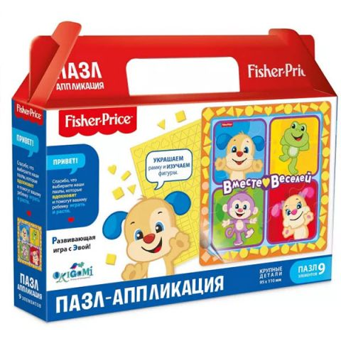 """Origami OR05033 Fisher Price Пазл """"Вместе веселей"""" 93 элемента"""