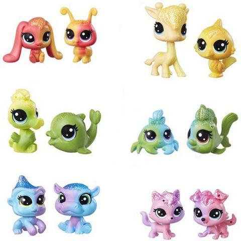 Hasbro Littlest Pet Shop C0794 Литлс Пет Шоп: Радужная коллекция - 2 радужных пета