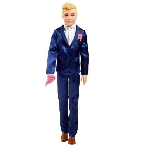 "Mattel Barbie GTF36 Барби Кукла Кен ""Жених"" в свадебном костюме"