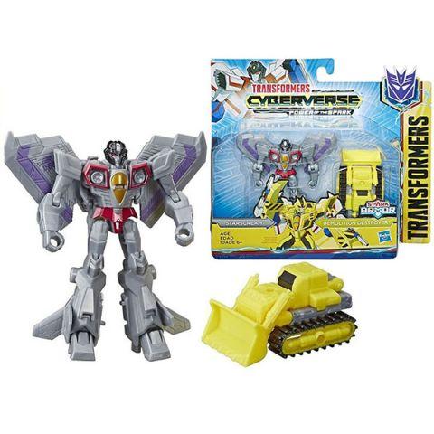 Hasbro Transformers E4219/E4298 Трансформеры КИБЕРВСЕЛЕННАЯ СПАРК АРМОР Старскрим 13 см.