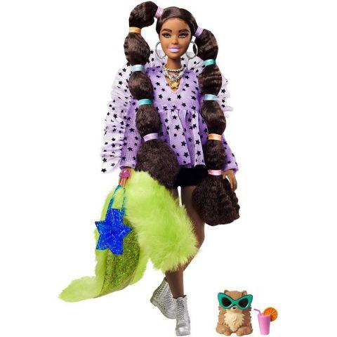 Mattel Barbie GXF10 Барби Кукла с переплетенными резинками хвостиками
