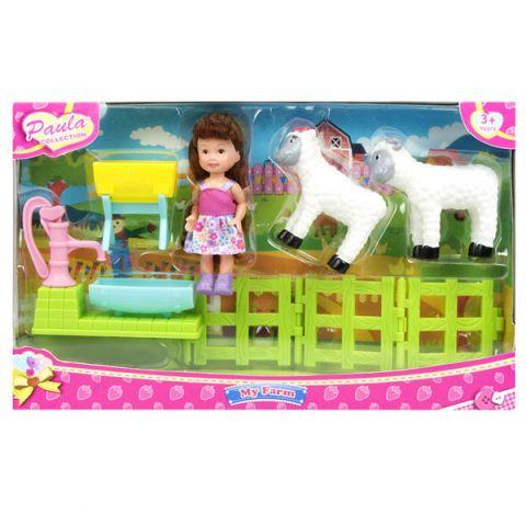 """Paula MC23602b Игровой набор """"В деревне"""" с овечками"""