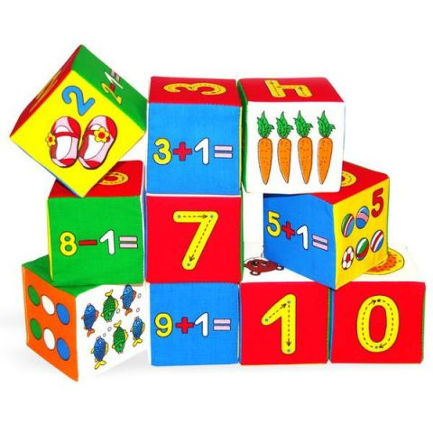 "Мякиши 177M Игрушка кубики ""Мякиши"" (Умная математика), 10 кубиков"
