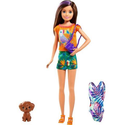 Mattel Barbie GRT89 Барби Игровой Набор кукла Стейси рыжеволосая в платье с питомцем и аксессуарами