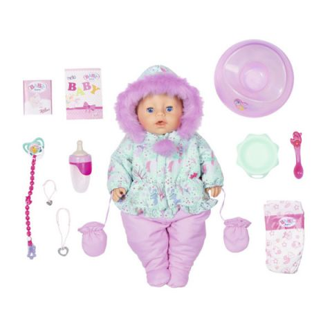 Zapf Creation Baby born 827-529 Бэби Борн Кукла Интерактивная Зимняя, 43 см