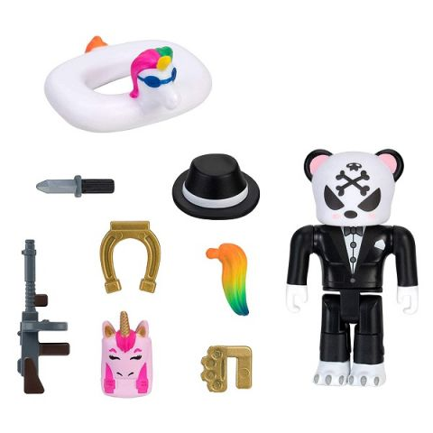 Roblox ROB0354 Фигурка героя Rare Complicated Unicorn Gangster Panda с аксессуарами