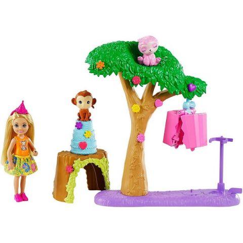 """Mattel Barbie GTM84 Барби Игровой набор """"Челси в Джунглях"""" с куклой блондинкой, щенками и аксесс."""