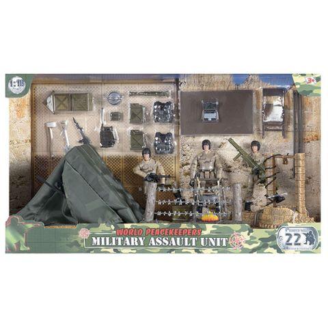 "World Peacekeepers MC77083 Игровой набор ""Лагерь"" 2 фигурки, 1:18"