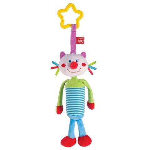 """Happy Baby 330350 Подвесная игрушка-колокольчик """"Кот"""""""