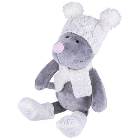 SOFTOY S889/20 Мягкая игрушка Мышь в шапке, 36см