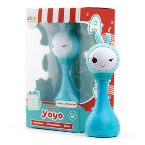 Alilo 61035 Музыкальная игрушка Умный зайка alilo R1+ Yoyo, синий