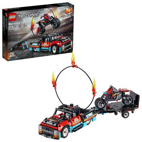 LEGO Technic 42106 Конструктор ЛЕГО Техник Шоу трюков на грузовиках и мотоциклах