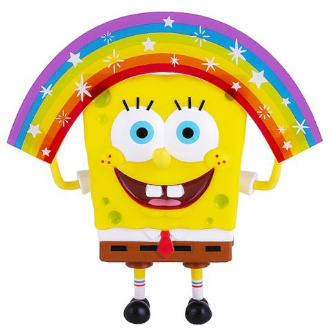 SpongeBob EU691001 Спанч Боб радужный (мем коллекция), 20 см, пластиковый