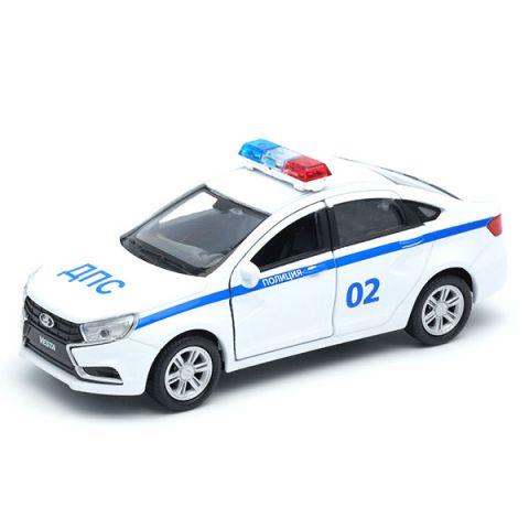 "Welly 43727PB Велли Модель машины 1:34-39 LADA Vesta ""Полиция ДПС"""