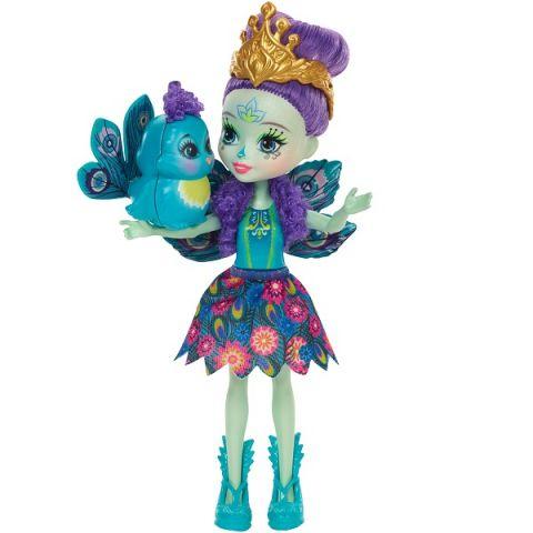 Mattel Enchantimals DYC76 Кукла Пэттер Павлина, 15 см