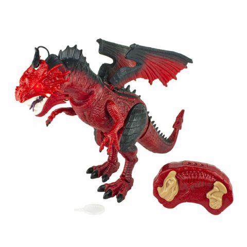 1toy T16702 Пламенный Дракон на ИК управлении (звук, свет, движение, парогенератор), красный