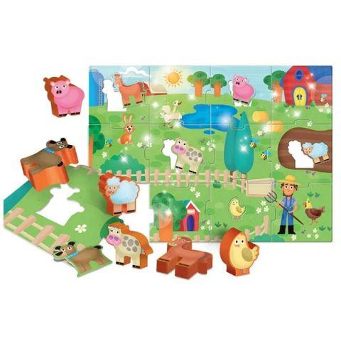 LISCIANI R63512 МОЯ ФЕРМА Пазл для самых маленьких с 3-D фигурками