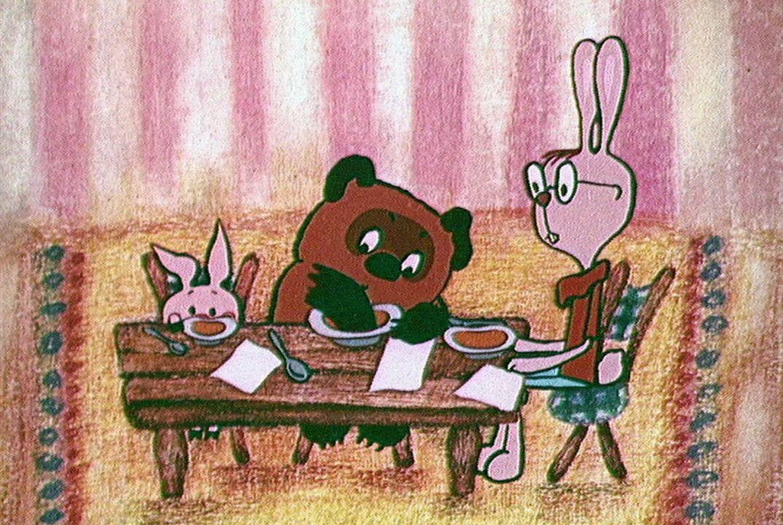 Винни пух у кролика в гостях картинки